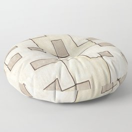 "Proto pattern n 1 ""toffee cake"" Floor Pillow"