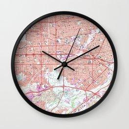 Vintage Map of El Monte California (1966) Wall Clock