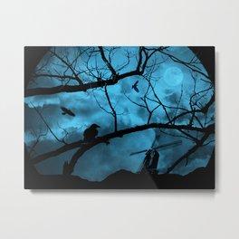 Windmill in a dark night Metal Print