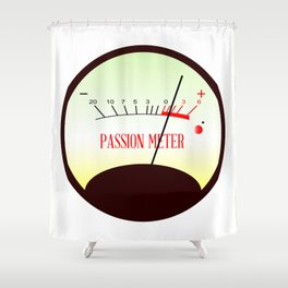 Red Hot Passion Meter Shower Curtain