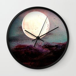Tonight, I Am Dreaming That We Can Sleep Under The Same Moon. Wall Clock