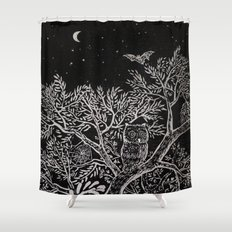 The night Shower Curtain