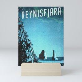 Iceland's Reynisfjara: Black Sand Beach Mini Art Print