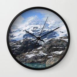 Cornice on mountain in Alaska Wall Clock