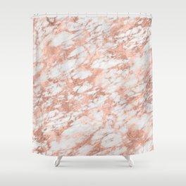 Massarossa rose gold marble - petal pink Shower Curtain