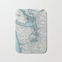 Puget Sound Map Bath Mat