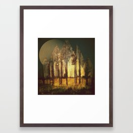 Forest Mountain Sky Framed Art Print