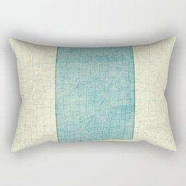 North Dakota State Map Blue Vintage Rectangular Pillow