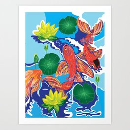 Dance of the Coi Art Print