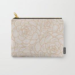 Sand and Succulents Carry-All Pouch