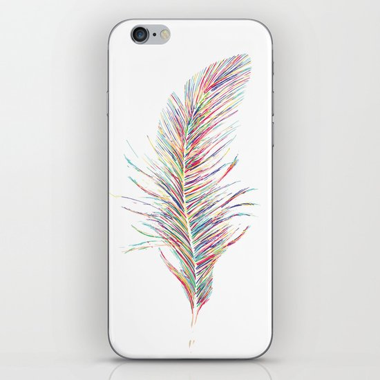 Rainbow Feather  iPhone & iPod Skin