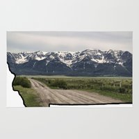 montana Area & Throw Rugs featuring Montana by Justine O'Neil Photography