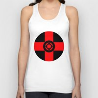 sad Tank Tops featuring Sad by Naked N Pieces
