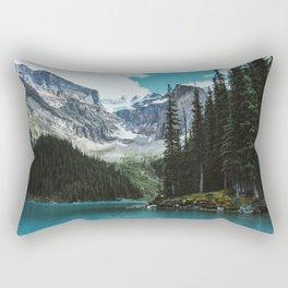 Canoeing in Moraine lake Rectangular Pillow