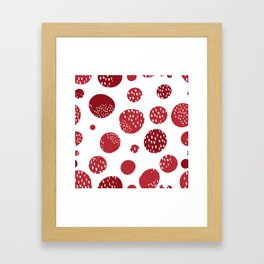 Abstract design with circles Framed Art Print