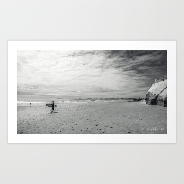 surfer on solana beach, san diego, california Kunstdrucke