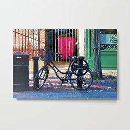 London Street Scene  - Parked Bicycle Metal Print