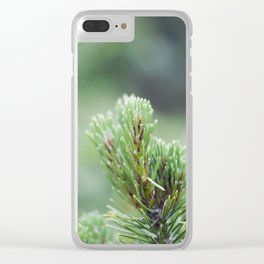 Evergreen Needles Clear iPhone Case