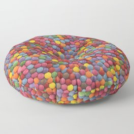 Candy-Coated Milk Chocolate Candy Pattern Floor Pillow