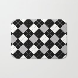 Checkered background Bath Mat