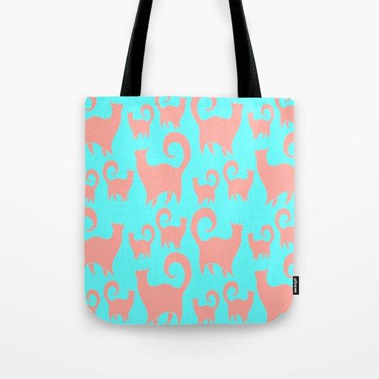 Pink Cats Tote Bag