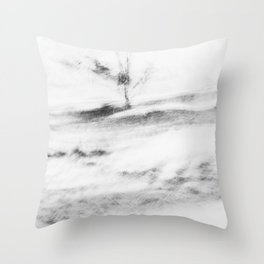 Abstract landscape   Moody fine art print in black and white Throw Pillow
