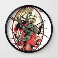 kpop Wall Clocks featuring Rose by Hyung86
