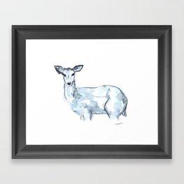 Deer Watercolor Sketch Framed Art Print