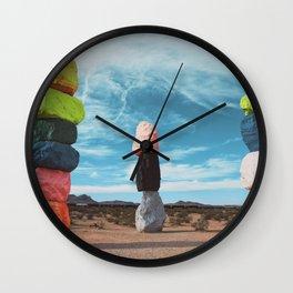 7 magic moutains las vegas Wall Clock