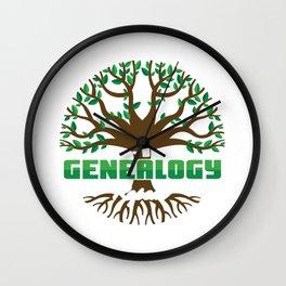 Eat Sleep Genealogy Repeat Bloodline Parentage Lineage Origin Family Tree Gift Wall Clock