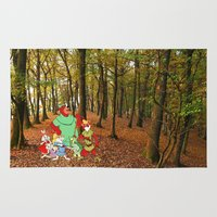 robin hood Area & Throw Rugs featuring Robin Hood and the Gang by foreverwars