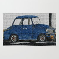 cuba Area & Throw Rugs featuring Cuba Car by Sartoris ART