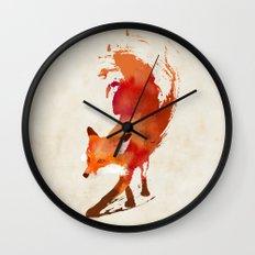 Vulpes vulpes Wall Clock