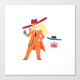Zoot Suit Samus Canvas Print