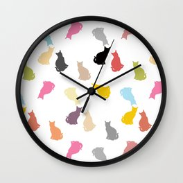 Cat Pattern Wall Clock