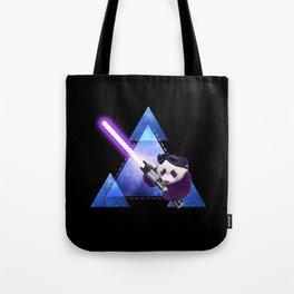 Galactic Panda with Lightsaber Tote Bag