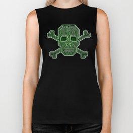 Hacker Skull Crossbones (isolated version) Biker Tank