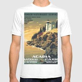 Vintage poster - Acadia National Park T-shirt