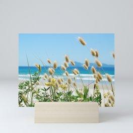 Beach bunny tail  sea grass Mini Art Print