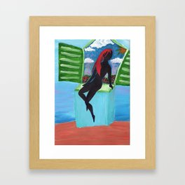 Out of the window Framed Art Print