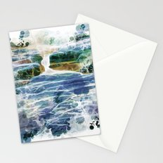Abstract rock pool in the rough rocks Stationery Cards