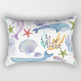 under the sea watercolor Rectangular Pillow