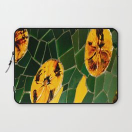 Photograph Yellow and Green Spanish Tile Mosaic Laptop Sleeve
