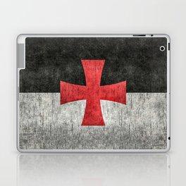 Knights Templar Symbol with super grungy textures Laptop & iPad Skin