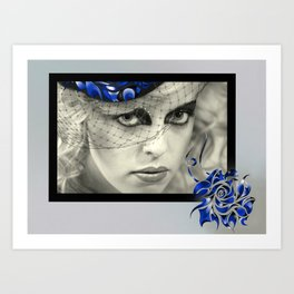 In Bloom in Blue Art Print