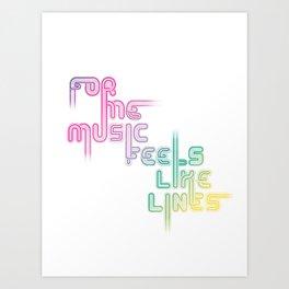 """Type and Music """"LATIN MUSIC"""" Art Print"""