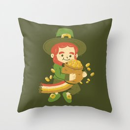 St Patrick Fun Beer Joke Throw Pillow