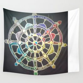 The Wheel of Dharma Wall Tapestry