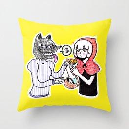 Big Bad Wolf Throw Pillow