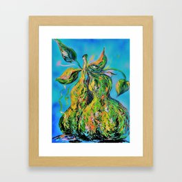 Abstract Pears Framed Art Print